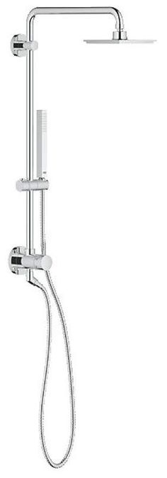 Grohe 26 124 Retro Fit 150 Shower System  Upgrade Your Existing Shower and  AddAtlantis Rain Shower Heads with Powerful Handheld   Products  . Black Shower Head And Faucet. Home Design Ideas