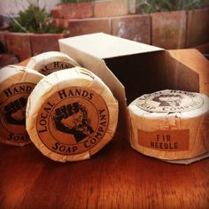 5 pack small Fir Needle Soap 1.75 oz each Natural Organic Vegan by LocalHandsSoapCo on Etsy