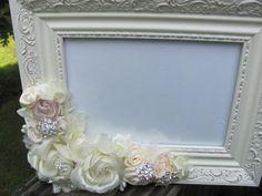 Bridal Shower Wedding Favor Shabby Chic picture Frame