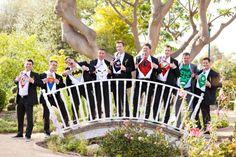 superhero wedding. groomsmen.