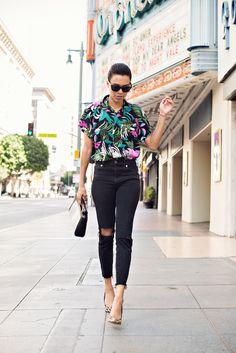 | take risks, have fun #stylemegrasie #ootd // hawaiian shirt // leopard heels