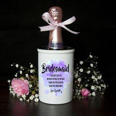 Personalised Miniature champagne Bucket, or Vase -  bridesmaid/maid of honour