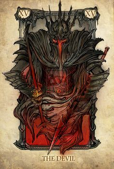 Lord of The Rings Tarot: The Devil by SceithAilm on deviantART