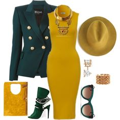 Business Meetings by fashionkill21 on Polyvore featuring polyvore fashion style Balmain Bita Pourtavoosi Allurez Thierry Lasry Tom Ford