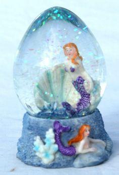 Mermaid snow dome • £5.25 - PicClick UK