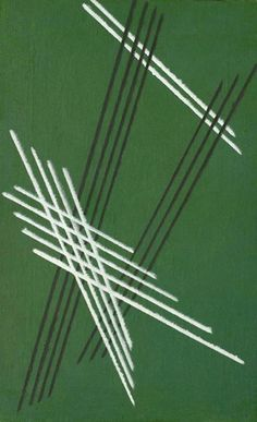 Alexander Rodchenko lines on green (structure number 92). 1919. canvas. 73 x 46