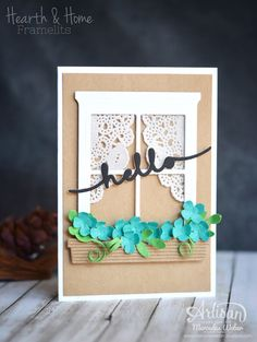 Stampin' Up! Hearth & home thinlit, Fancy Friday- Color Challenge | Mercedes Weber @ My Paper Paradise