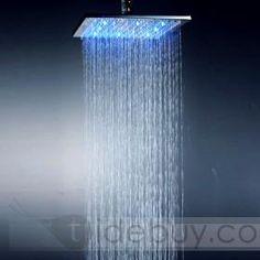 20 Inch 304 steel Square LED Rainfall Shower Head