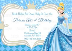 Create easy cinderella birthday invitations printable invitations printable cinderella birthday party invitation plus free blank matching printable thank you card bookmarktalkfo Gallery
