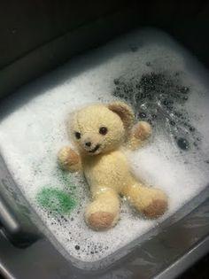 Bathtime for Stuffed animals