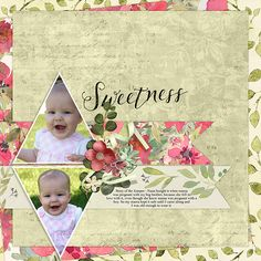 Digital scrapbooking kit Watercolor Fleur Paper Super Mini, by Cindy Rohrbough at ScrapGirls.com