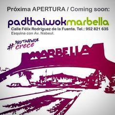 Pronto PadthaiWok #Marbella #LlegaElSabor #DeNuevoEnMarbella  #LoMejorenLaMejor #PadthaiwokCrece #Noodles #Currys #Especialidades #Thai #ThaiBurgers #MasCercaDeTi #ThaiFood #ThaikeAway #servicioadomicilio (scheduled via http://www.tailwindapp.com?utm_source=pinterest&utm_medium=twpin&utm_content=post8923244&utm_campaign=scheduler_attribution)