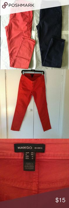 Mango Basic pants (color strawberry) Excellent condition, only wore a couple of times! 97% cotton 3% elastane Mango Pants