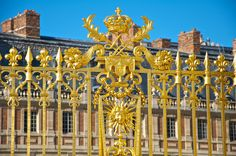 The restored golden gate entrance to Le Chateau de Versailles, french for The Palace of Versailles, just outside Paris, France www.thebrighterwriter.blogspot.com