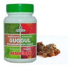 GUGGUL Indian Bdellium (Inglês), Guggul (Hindu) Contribui para manter os níveis de colesterol normais. Útil para a manutenção de um peso saudável.  Contribui para a saúde do sistema cardiovascular. Apoia a saúde do sistema imunitário e tem propriedades antioxidantes significativas.