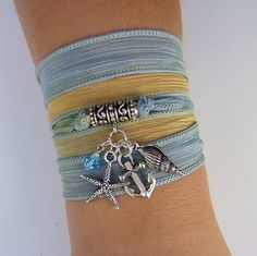 Red Deerskin Leather Wrap Bracelet Silver by SgtPeppersCreations