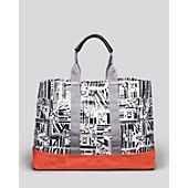 DVF Loves ROXY Cotton Canvas Tote Bag