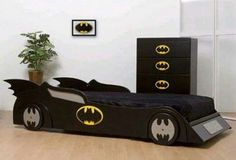 Batman bed and dresser idea for Asher's room
