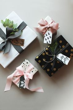 Elegant Christmas Gift Wrapping Ideas You Can Make Yourself - Weihnachten Wrapping Ideas, Elegant Gift Wrapping, Creative Gift Wrapping, Creative Gifts, Creative Gift Packaging, Wrapping Papers, Wrapping Gifts, Christmas Gift Wrapping, Christmas Tag