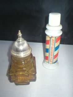 vintage Avon Decanters The Capitol and a Barber shop pole lot of 2