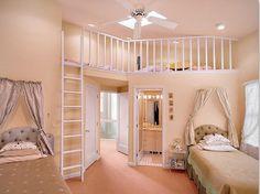 bedroom, girl, pink, princess