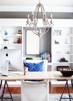Cozy Home Office a cozy home office makeover {one room challenge reveal | see more