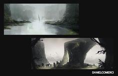 ArtStation - Environment sketches, Daniel Comerci