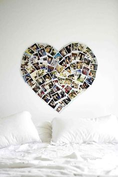 Heart photo wall - decoration idea - DIY
