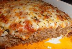 An Absolutely  Delicious Italian Meatloaf | Sub crushed pork rinds for the bread crumbs and add extra Italian seasoning.