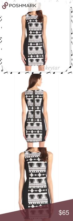 🌟HP x2!🌟Kensie Aztec Jacquard Dress size M A fun and sexy dress to own. This piece features a front and back brocade with Aztec design and black panels on the side. Thicker jacquard woven material holds shape and is perfect for the fall transition. Purchased for $99. NWT.  8.25.16 Best in dresses and skirts HP by @keyaconwell. 8.27.16 Classic Chic Party HP by @myirelandrose .. Check out their beautiful closets too!  ❌trades ❌lowballs 👍offer button  🌟Bundle 2 or more items and save 10%🌟…