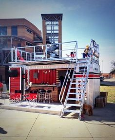 shipping container cafe at DuckDuckGo Container Coffee Shop, Container Van, Container Design, Container Architecture, Container Buildings, Coffee Shop Design, Cafe Design, House Design, Kiosk Design