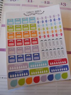 The Fitness Planner Sticker Kit is a great set to use for your Erin Condren Life Planner or Plum Paper planners. This kit includes a total of 68