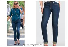 Best Dark Jeans as seen on Celebs - Reese Witherspoon is wearing the DRAPER JAMES Tootsie Dark Jeans, $148 USD.