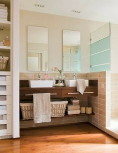 www.organizarefestejar.blogspot.pt More space in the bathroom