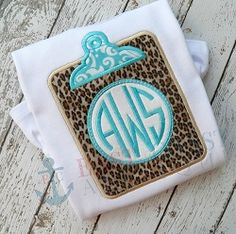 Clipboard Monogram Applique - 3 Sizes! | What's New | Machine Embroidery Designs | SWAKembroidery.com East Coast Applique
