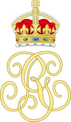 Royal Monogram of King George III of Great Britain Royal Families Of Europe, British Royal Families, Uk History, Black History, Queen Victoria Descendants, Lip Logo, High Middle Ages, Royal King, Royal Crowns