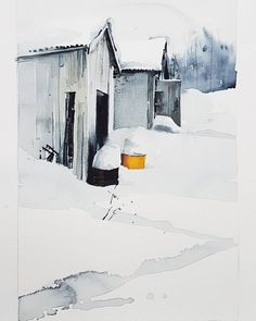 Spring in northern Sweden. Watercolour by Elisabeth Biström. Textiles, Art Lessons, Print Patterns, Graphic Design, Watercolors, Sweden, Prints, Outdoor, Instagram
