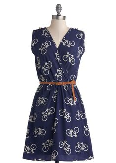 Bicycle dress.