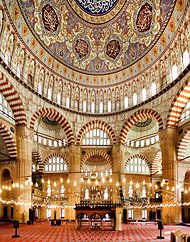 Dome of the Selimiye Mosque (built 1569-1574)(Turkish: Selimiye Camii) is an Ottoman mosque in the city of Edirne. The mosque was commissioned by Sultan Selim II and was built by architect Mimar Sinan between 1569 and 1575. It was considered by Sinan to be his masterpiece and is one of the highest achievements of Islamic architecture.  Source: Wikipedia>