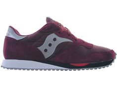 81792a85af35 Saucony DXN Trainers Burgundy - Terraces Menswear