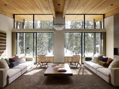 Wooden ceiling design, wood wall panels and made of solid wood furniture offer a warm feel to any room. Wood is versatile, precious and eco friendly material for modern eco homes, which natural beauty
