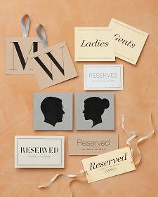 Free Printable + Customizable Wedding Clip art for Signage. Easy + Elegant!!