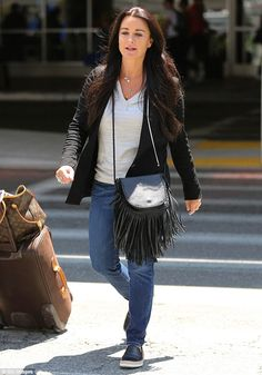 f3777f31f77 Back in town  Kyle Richards was spotted arriving at Los Angeles  International Airport on F