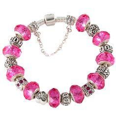 Floral Pink Charm Bracelet – Florence Scovel
