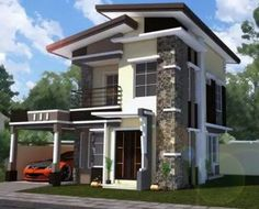 Architecture two storey house designs and floor for Modern zen house design with roof deck