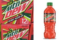Mountain Dew Merry Mash-Up - Both cranberries and pomegranates are synonymous with the holiday season, and now you can enjoy the flavor of both these festive berries at once in. Mtn Dew Flavors, Pop Bottles, Beverages, Drinks, Mountain Dew, Pomegranate, Coco, Berries, Merry