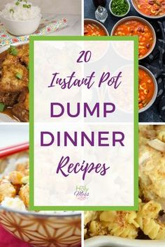 20 Instant Pot Dump Dinner Recipes Do you need quick, easy, delcious dinner recipes for your Instant Pot? Check out these 20 Instant Pot dump dinner recipes. Dump and push start! Pressure Cooking Recipes, Slow Cooker Recipes, Crockpot Recipes, Dump Recipes, Fast Recipes, Best Instapot Recipes, Healthy Recipes, Cheap Recipes, Group Recipes