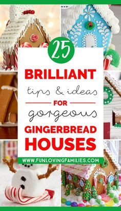 25 Gingerbread House Ideas, Tips, and Tricks - Fun Loving Families Gingerbread House Pictures, Homemade Gingerbread House, Graham Cracker Gingerbread House, Gingerbread House Template, Cool Gingerbread Houses, Gingerbread House Designs, Gingerbread House Parties, Christmas Gingerbread House, Gingerbread Recipes