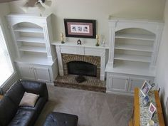 fireplaces with side windows | have windows on each side of the fireplace, ... | Home organization ...
