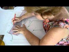 Esta é uma outra forma de fazer manga raglan aproveitando um molde de manga já pronta.